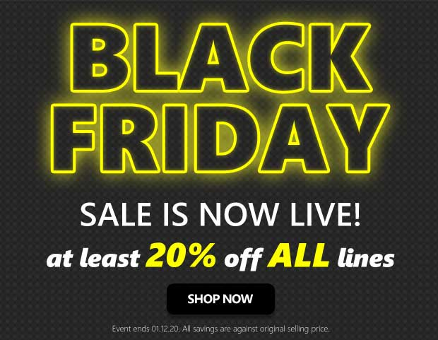Black Friday Sale - 20% to 70% Off All Lines