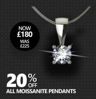 Black Friday Moissanite Sale - 20% Off All Moissanite Pendants