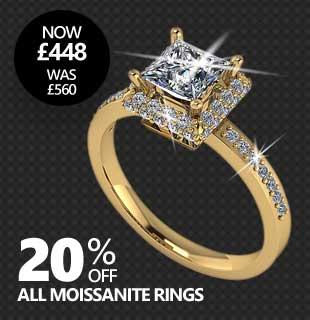 Black Friday Moissanite Sale - 20% Off All Moissanite Rings