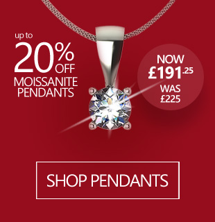 January Sale - up to 20% Off All Moissanite Pendants